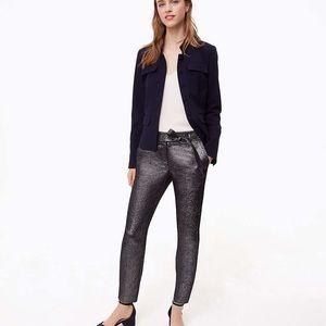 NWT LOFT Slim Shimmer Tie Waist Pants in Marisa